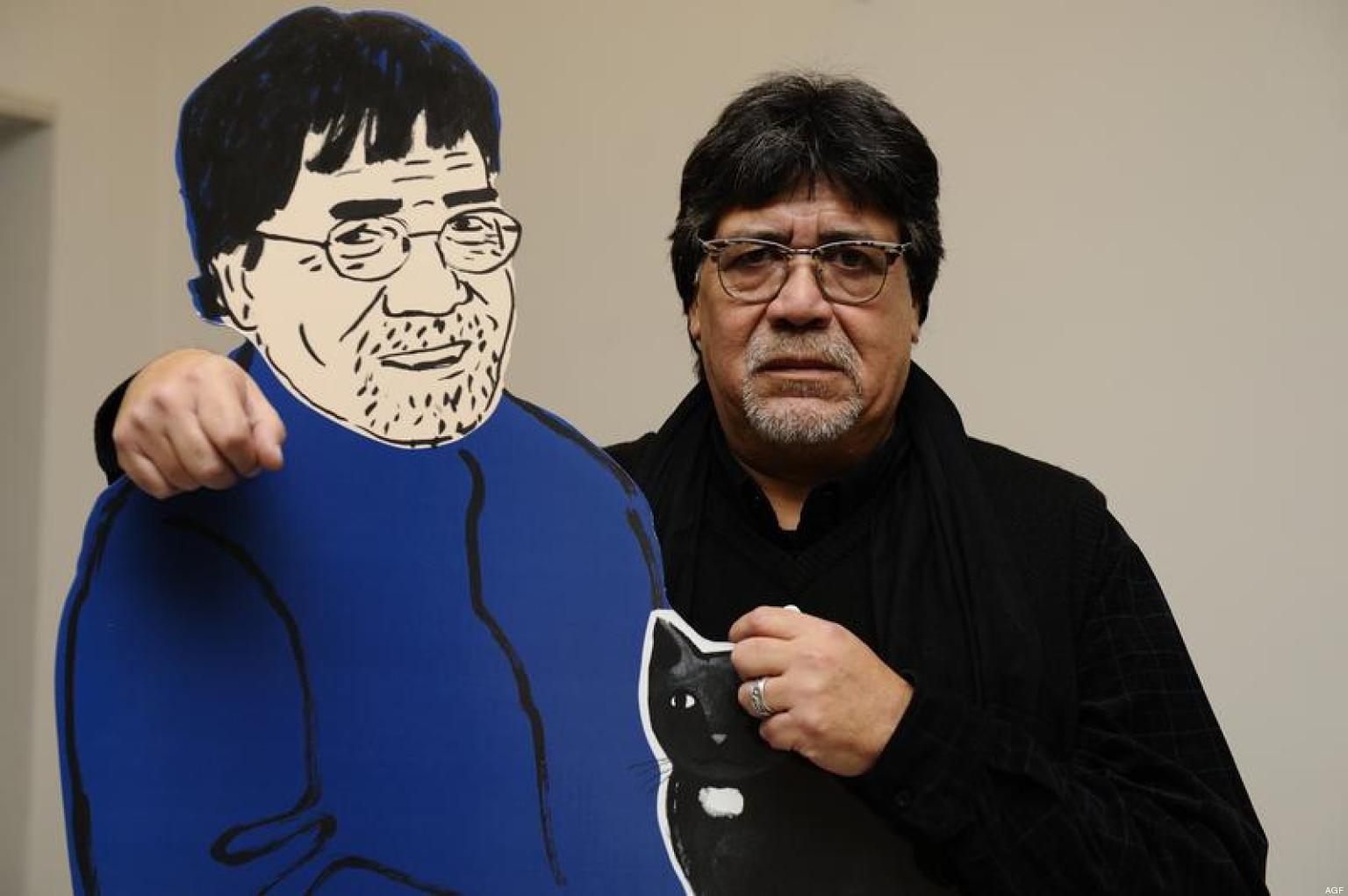 14/11/2012, Milano, lo scrittore Luis Sepulveda presenta il suo nuovo libro