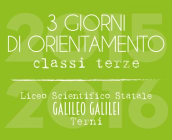 3 giorni di orientamento al Galilei di Terni